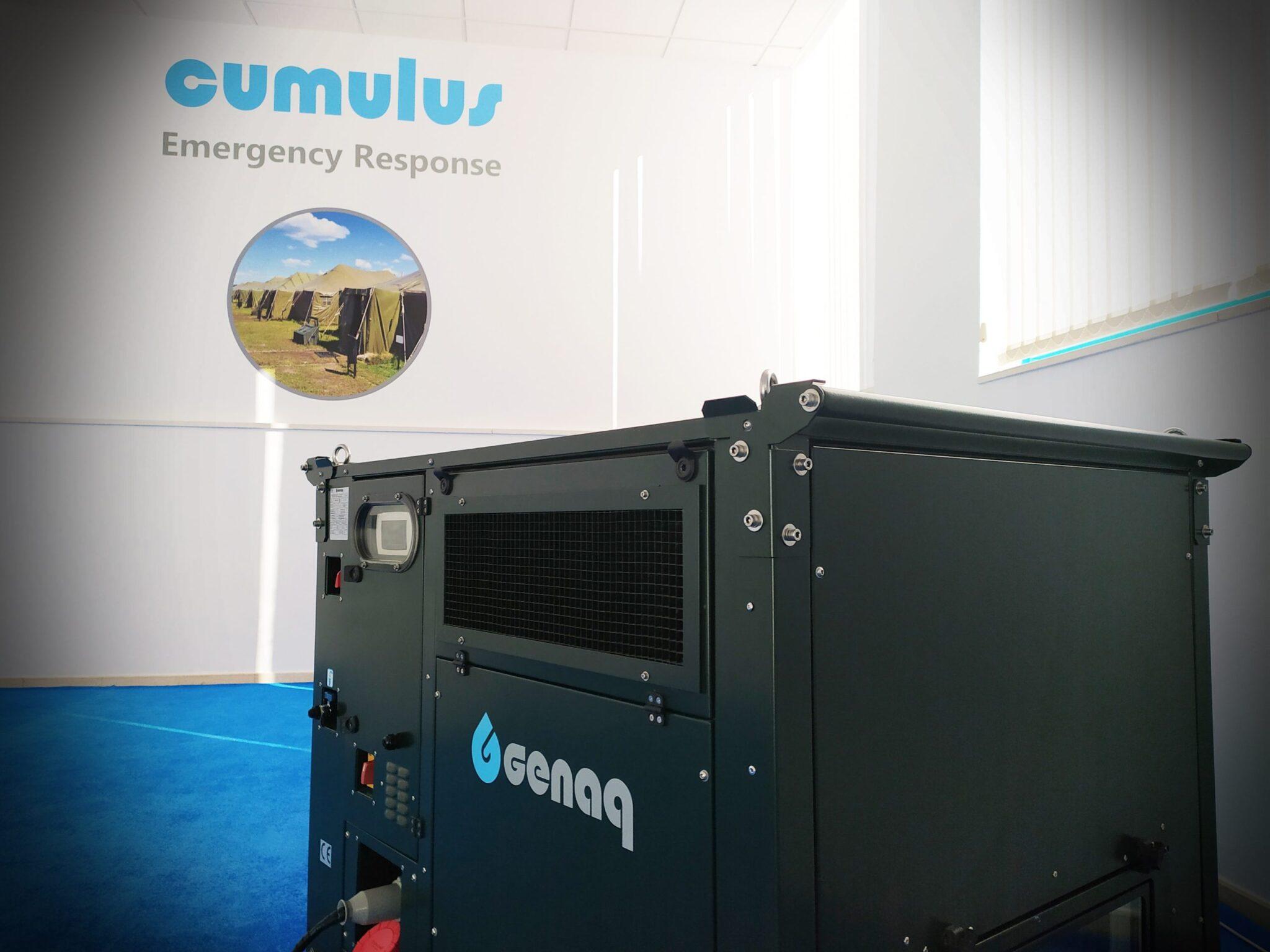 generador de agua scaled - Los generadores atmosféricos de agua de GENAQ: Una solución tecnológica real para el sector Defensa